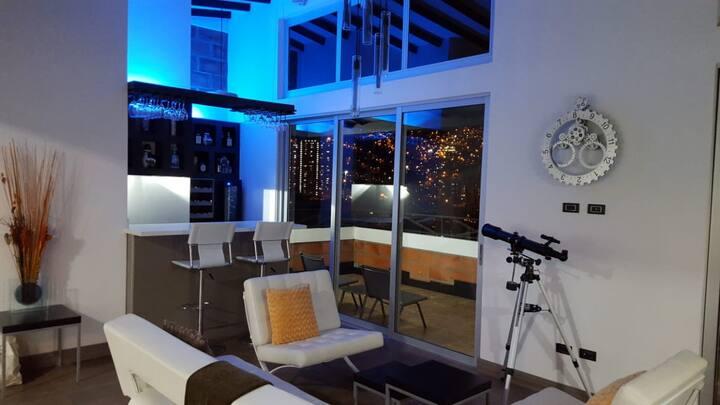 Modern penthouse in Medellin