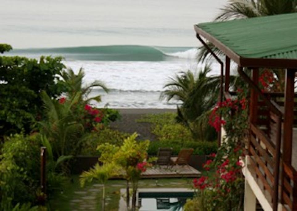 Great waves breaking out front