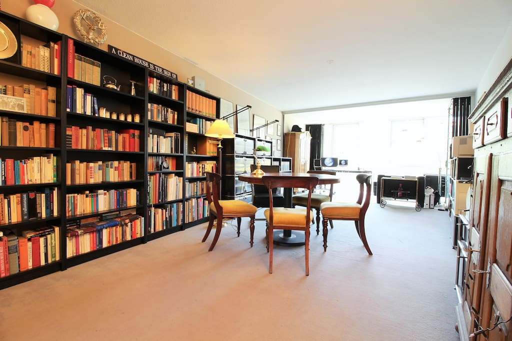 The open living area is very bright and spacious.