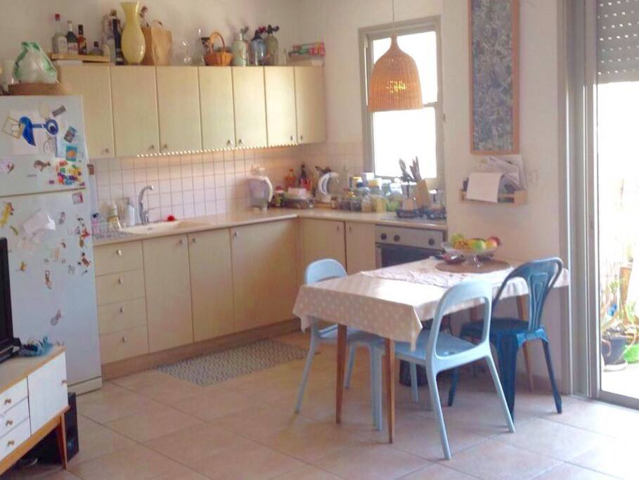 Kitchen is fully equipped. mostly organic and healthy pantry products for you to enjoy .