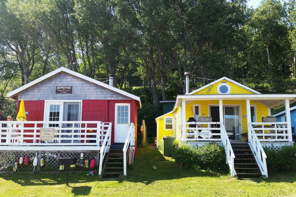 Our Fundy View on the left and Bay View in rubber ducky yellow