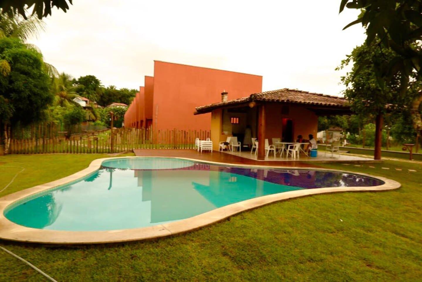 Quiosque do Villa Gamboa (piscina, churrasqueira, chuveirão e banheiros