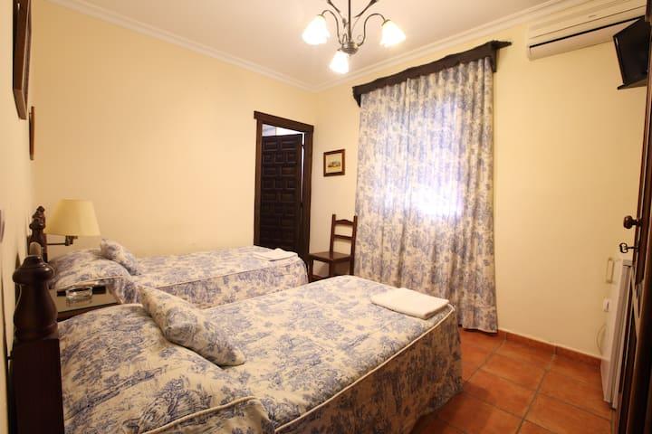 habitacion doble con dos camas