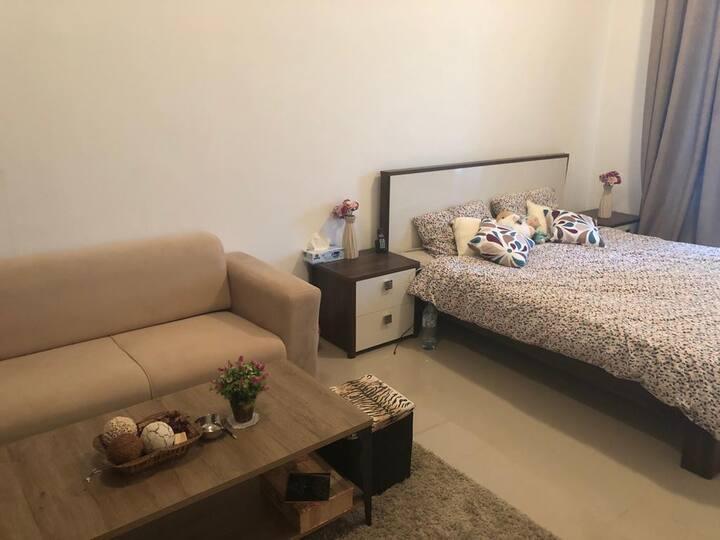Furnished studio with balcony in Dubai marina