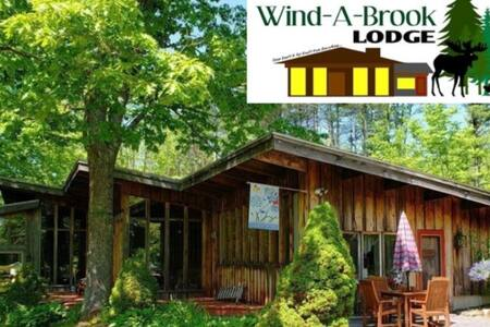 **Wind-A-Brook Lodge** Rustic, Country Chateau