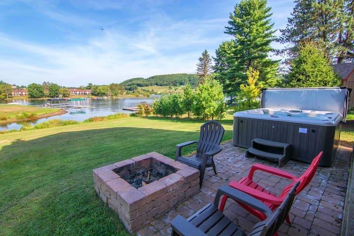 Lake View Retreat w/ Hot Tub, Walk to Wisp Resort!