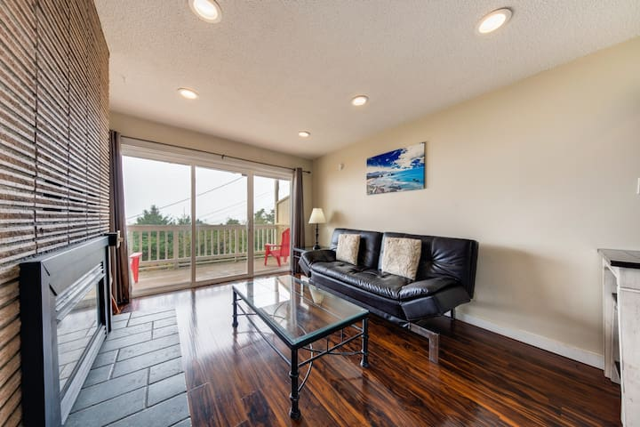 Dog-friendly condo with beach access & ocean views from private balcony!