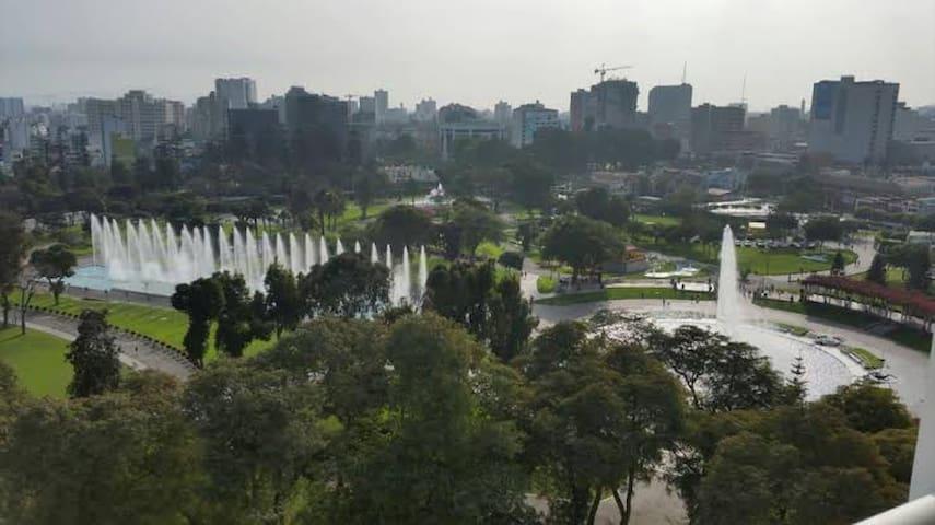 Dpto con hermosa vista al parque de las aguas