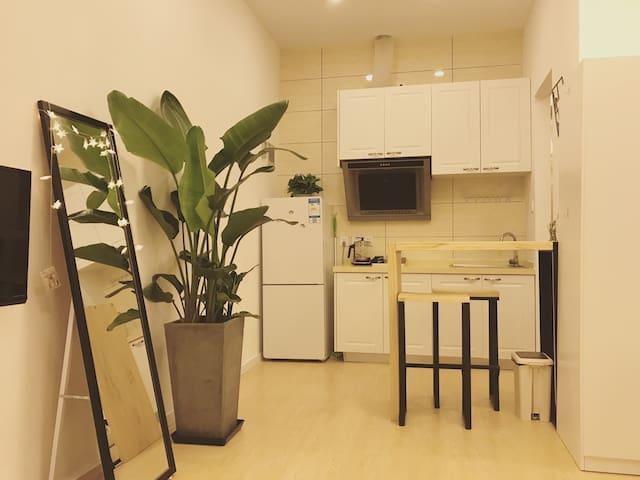 背靠Iapm环贸广场黄金地段 毗邻地铁1/10/12号线清新温馨独立一居室