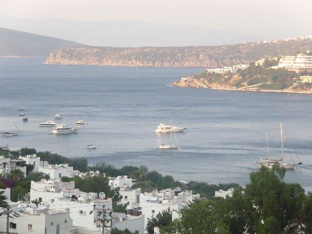 bodrumda deniz manzaralı villa