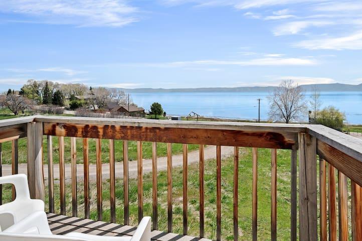 Hillside home w/ deck & beautiful views of Bear Lake - dogs OK!