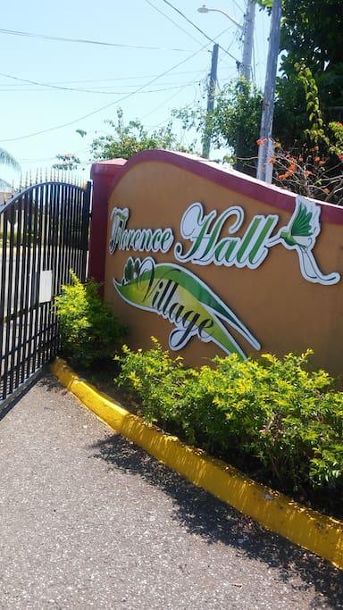 Florence Hall Village sign