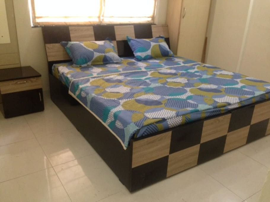 Two Single beds combined into one. Can be separated
