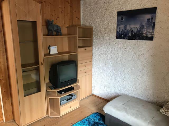 Wohnzimmer im Apartment Hochfichtblick