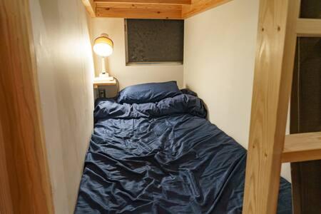 【ゲストハウス】さんかくワサビ シングルベッド Guest house single bed