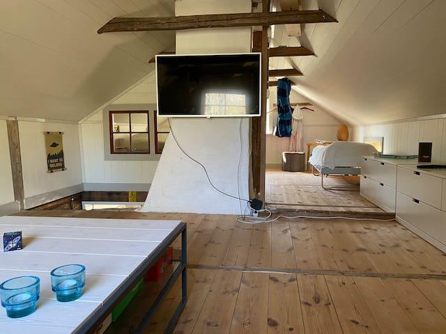 Upper floor. TV room. Recreation.