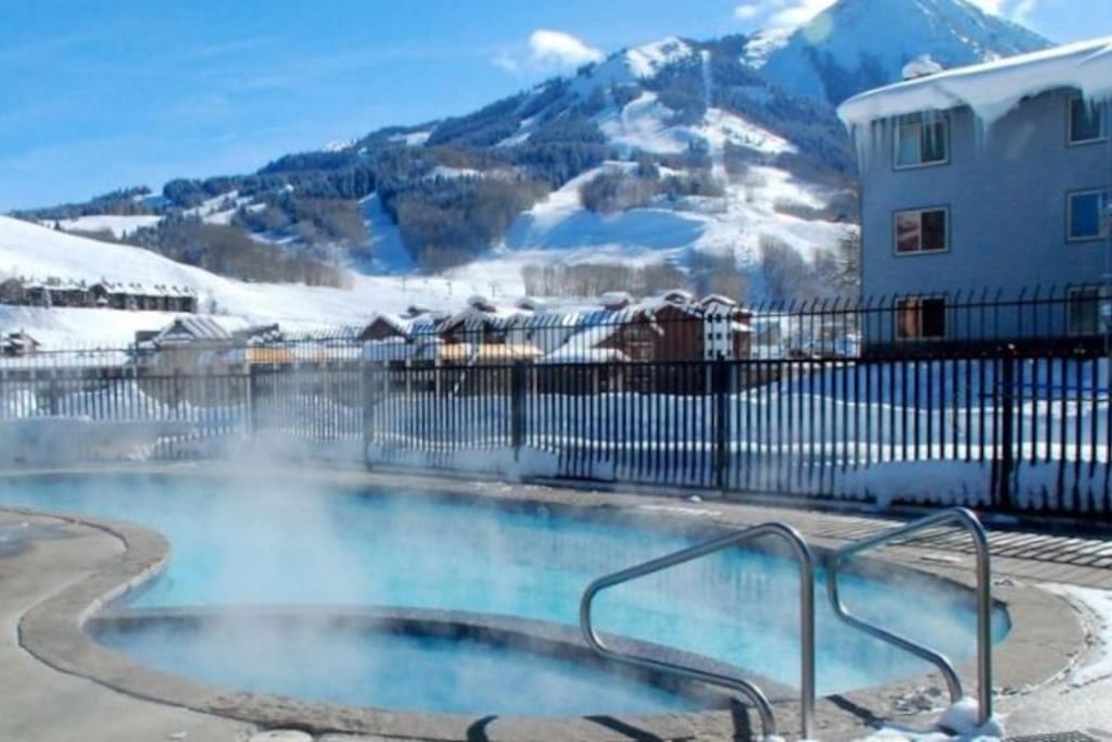the pool and hot tub open year round