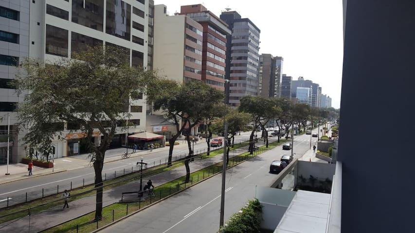 Vista desde el balcón del departamento