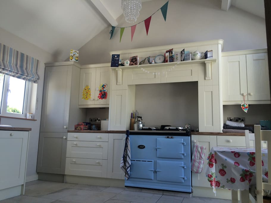 Family kitchen with Aga