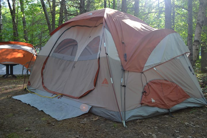 Tent site near Talon Chutes