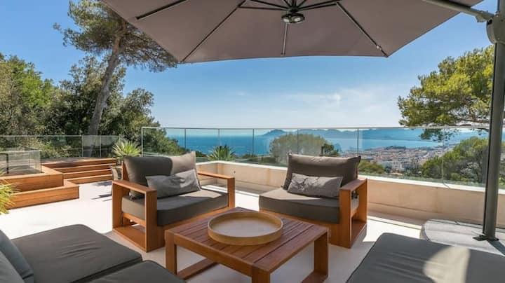 Amazing seaview Villa in Cannes Californie