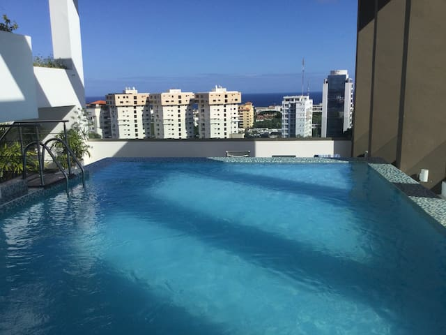 Luxury  apartment Downtown,  Pool Roof & Sea Views