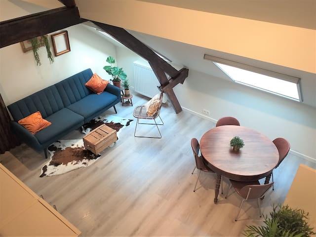 Stylish duplex in cosy Antwerp neighborhood
