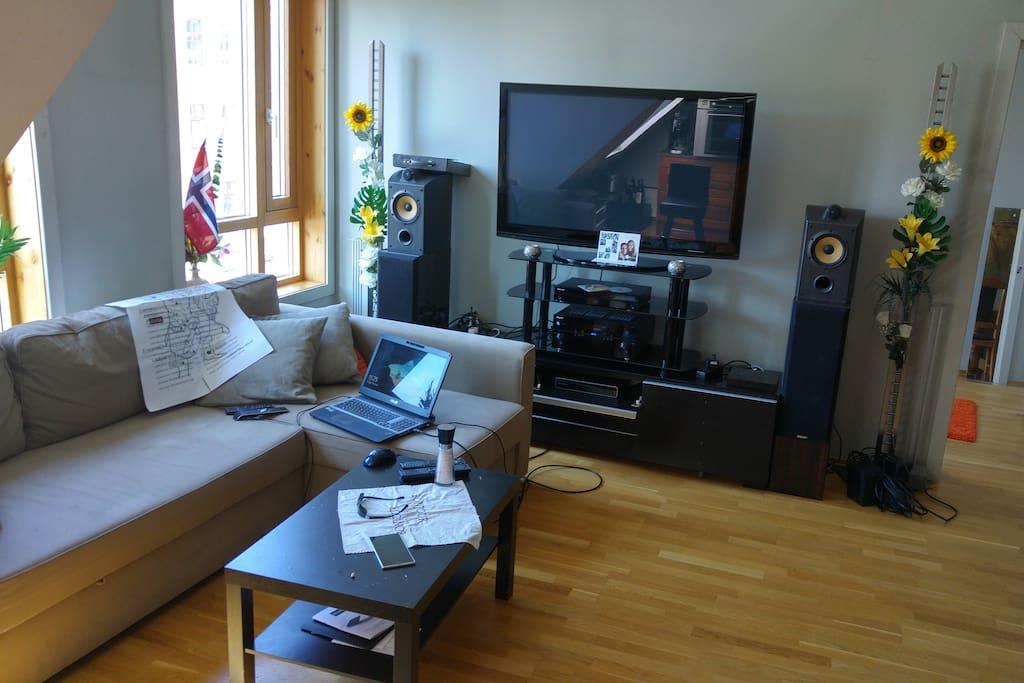 "50"" PlasmaTV with quality sound system!"