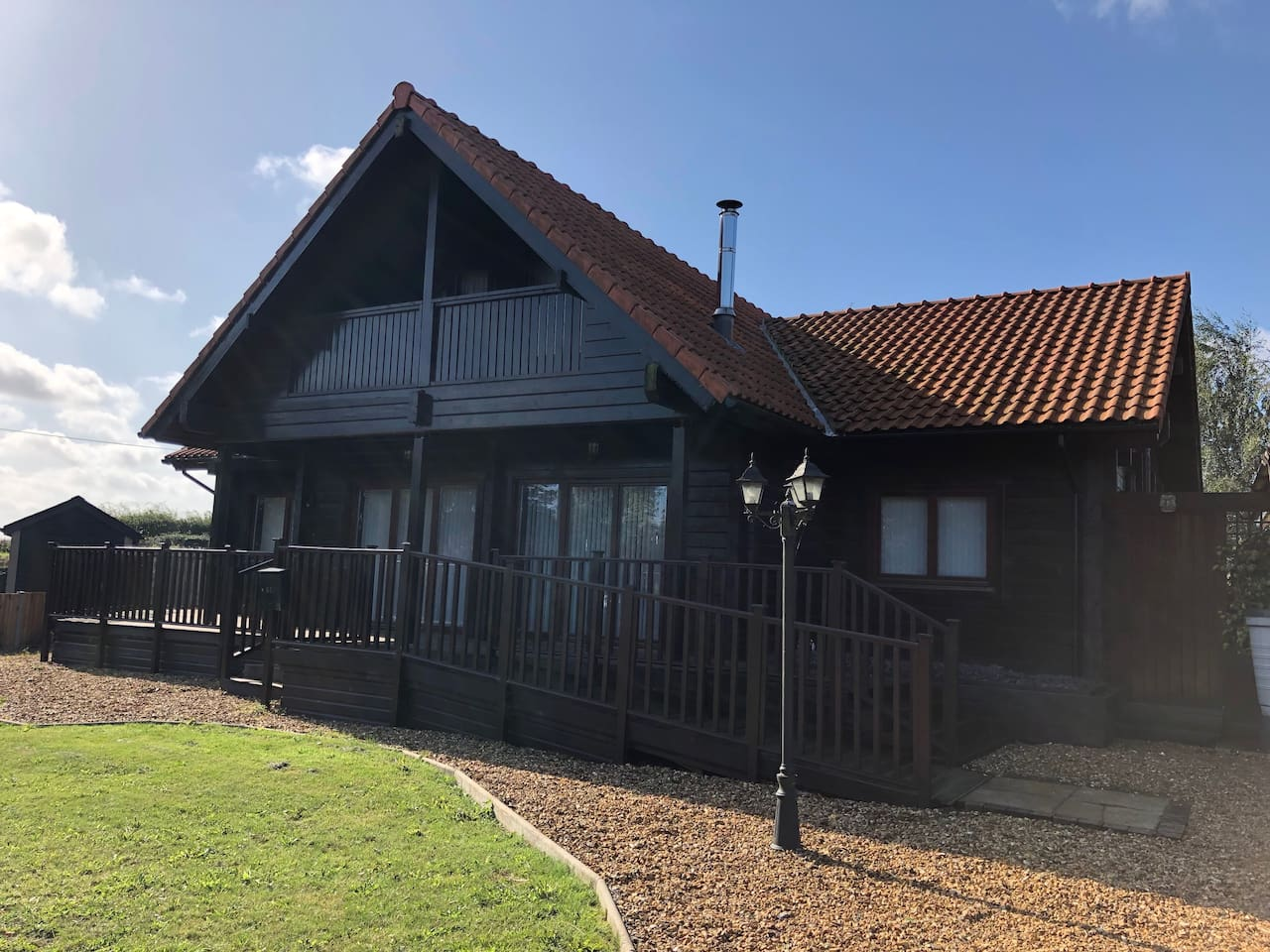 Spacious lodge offers step-free access