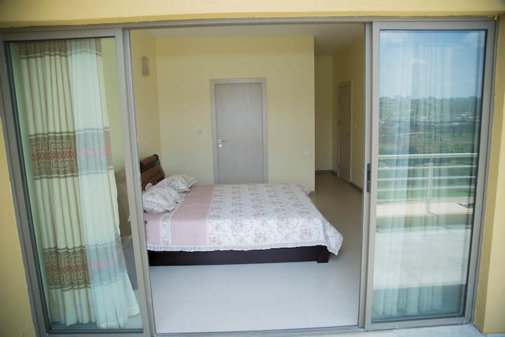 Bedroom with access to a private balcony