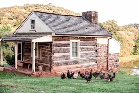 1700s Log Cabin on Beautiful Hopeland Farm
