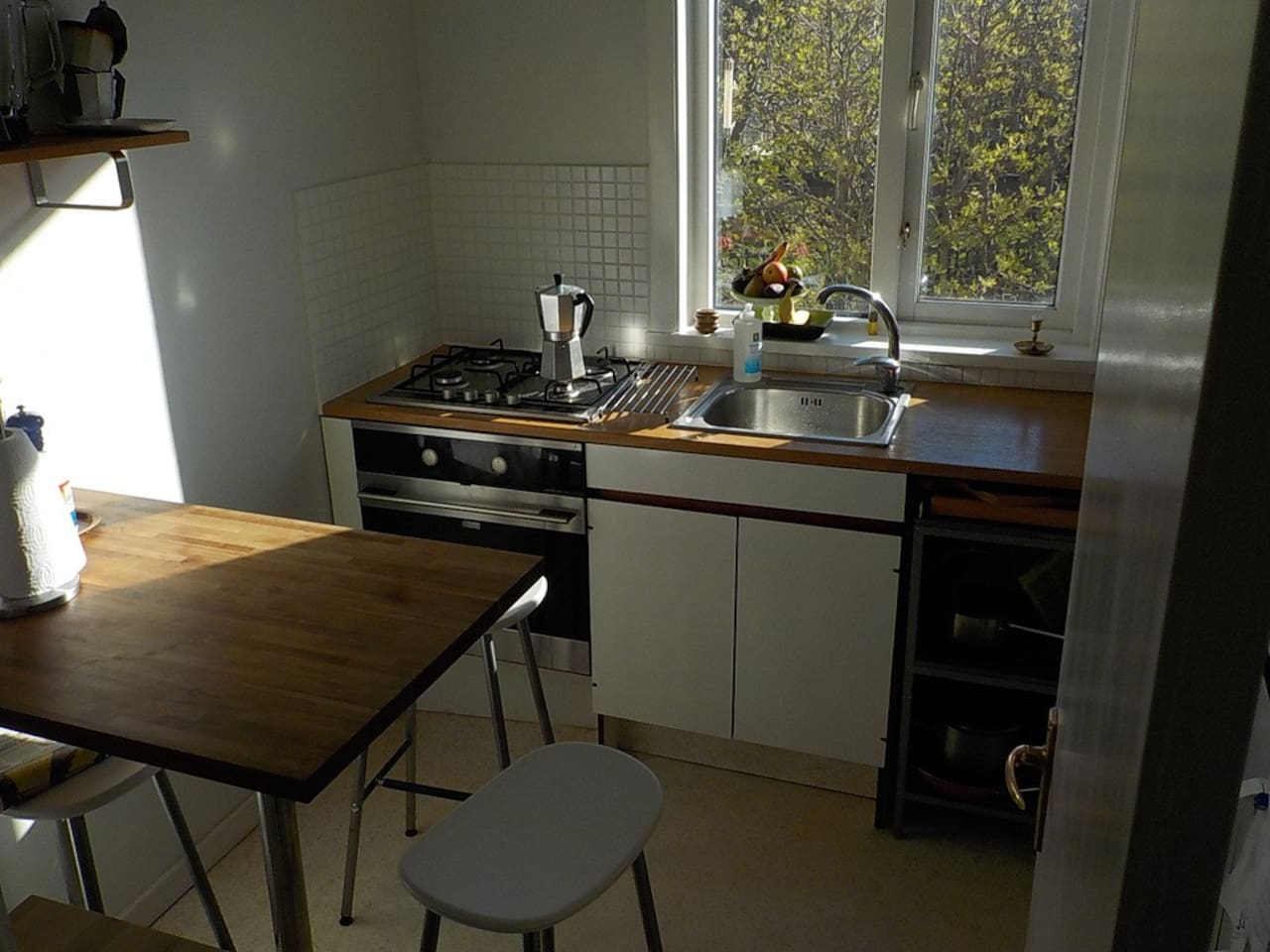The kitchen in the morning sun