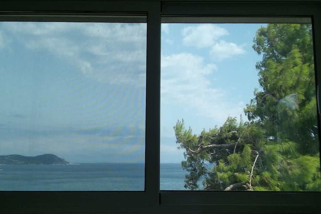 Sea view from living room.
