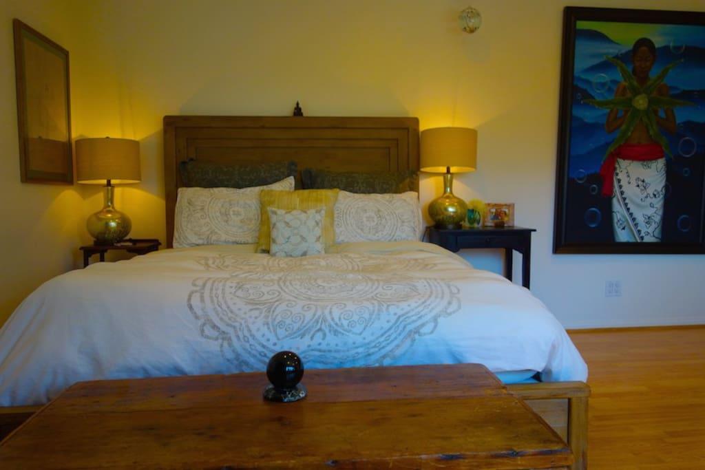 Enjoy the spacious 500 sq. ft. bedroom