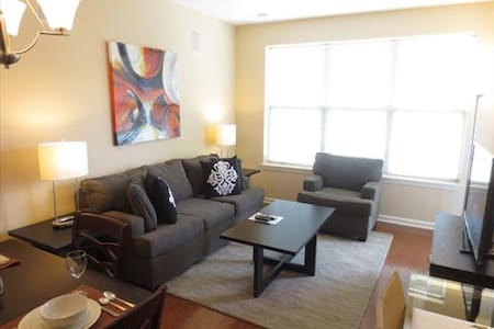 Lux Raritan 1 Bedroom w/balc mins from train - Raritan