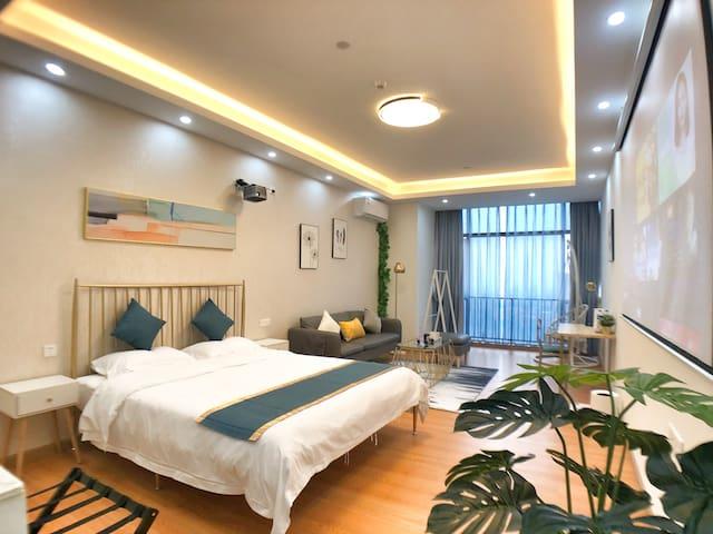 【广州南站长隆精品公寓】和风主题/3D巨幕影院/情侣大床房