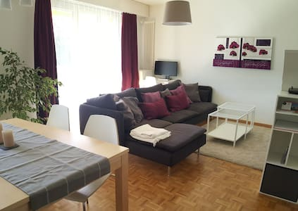 Light & peaceful 2 bedroom flat for 4 - Genève - Lägenhet