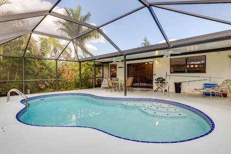 Dům s překrásnou tropickou zahradou a s bazénem