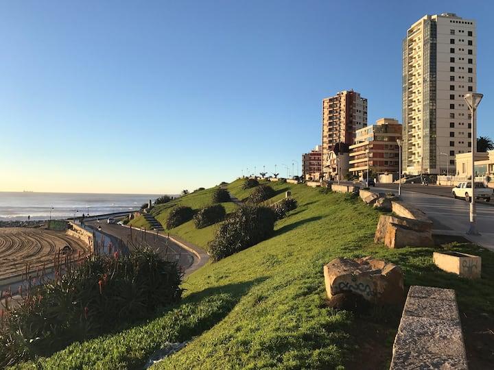 A pasos del mar y el centro con terraza gigante!