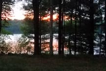 View from deck at sunset