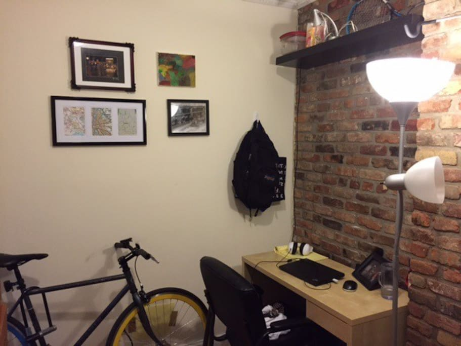 Desk and Wall of room