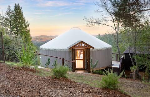 Modern Yurt with Vineyard Views