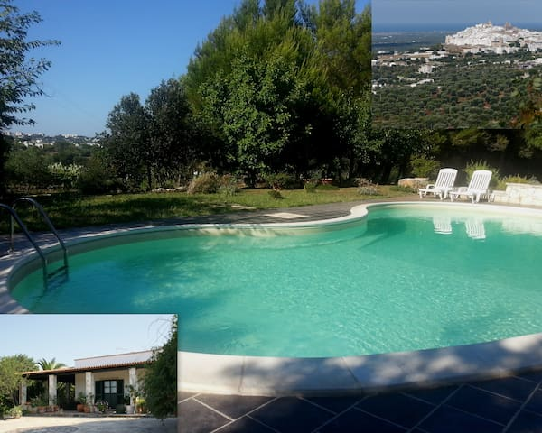 villetta con piscina in campagna - ออสตูนี่ - วิลล่า