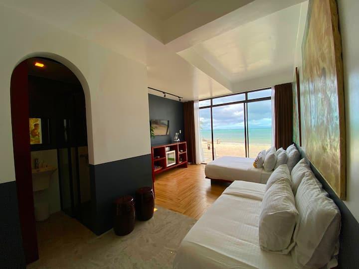 Twin Room with ocean view, Beachfront, Bulabog