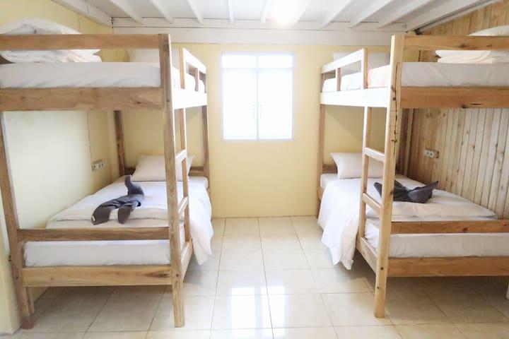 Bed with Breakfast in 4 Bed Male Dorm Room @ Bira