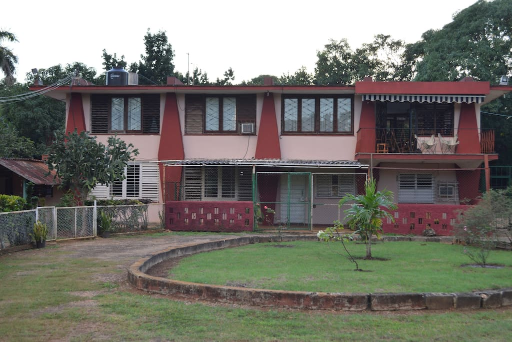 Hausansicht, Vista de la casa