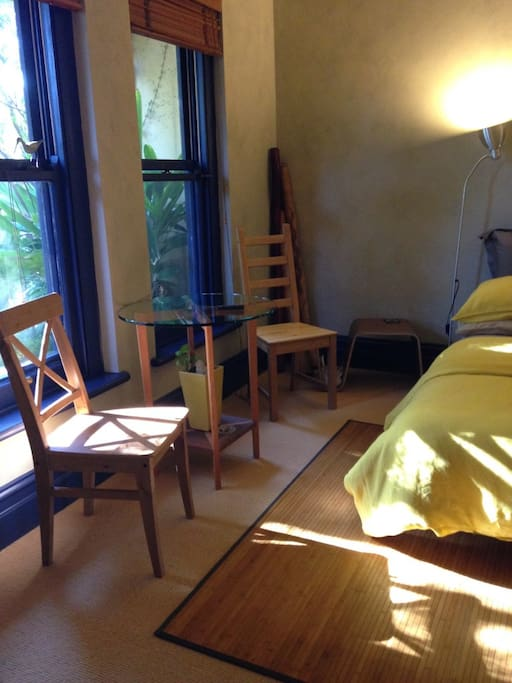 The Futon Room, sun bathes the room during the late afternoon.