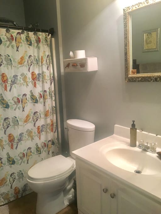 private and clean bathroom