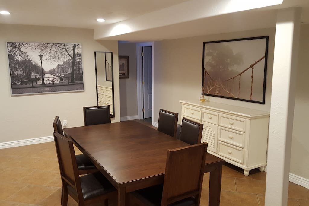 Large separate dining area.