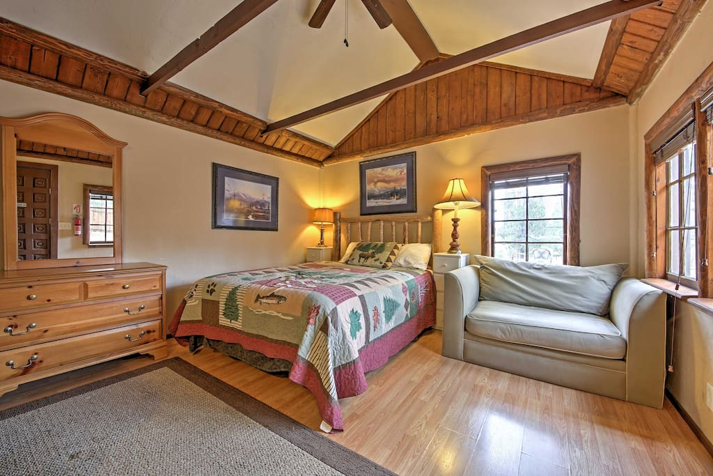 The cottage is quaint and features all the necessary amenities to feel at home during your stay.